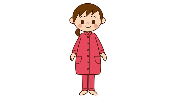 パジャマの妊婦